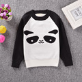 fashion new style autumn Europe Children's panda pattern sweater boy girl long sleeve clothes baby cotton knitting top
