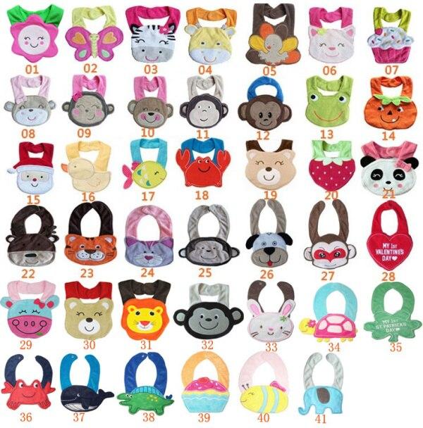 5 шт./партия-буксировочные животные-принты моделирование младенцев и малышей хлопковые нагрудники непромокаемые детские нагрудники/Мультяшные детские нагрудники с животными - Цвет: boy designs