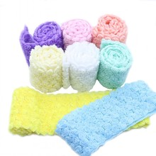 6 Row 8cm Width 3D Chiffon Rose Flower Embroidered Lace Trim Ribbon Fabric DIY Sewing Craft For Costume Headdress Hat Decoration