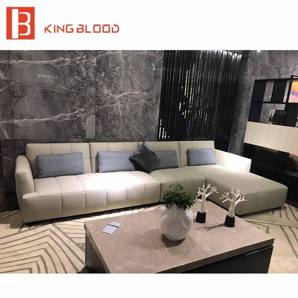 Galleria fotografica Divano in pelle divano moderno divano componibile a buon mercato set