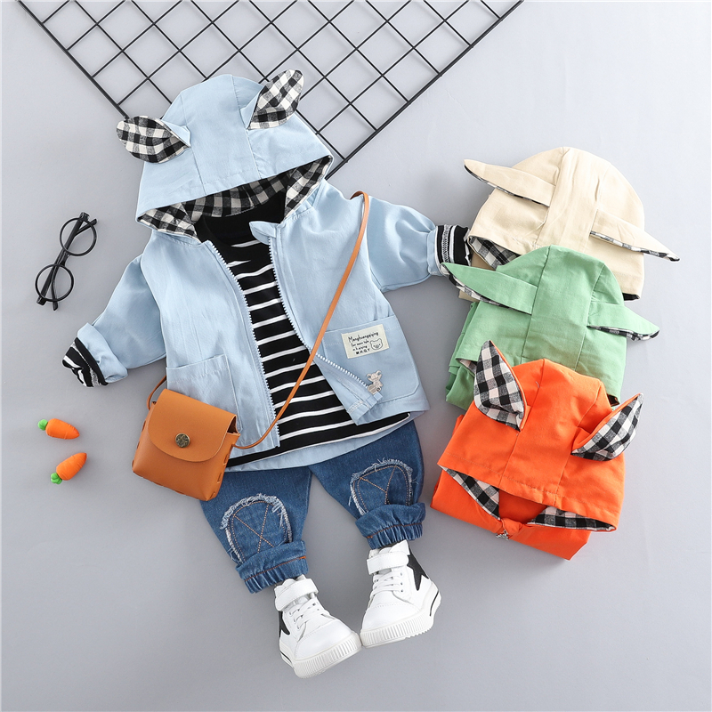 HYLKIDHUOSE 2019 Spring Baby Girls Boys Clothing Sets Toddler Infant Clothes Suits Casual Coats T Shirt Pants Children CostumeHYLKIDHUOSE 2019 Spring Baby Girls Boys Clothing Sets Toddler Infant Clothes Suits Casual Coats T Shirt Pants Children Costume