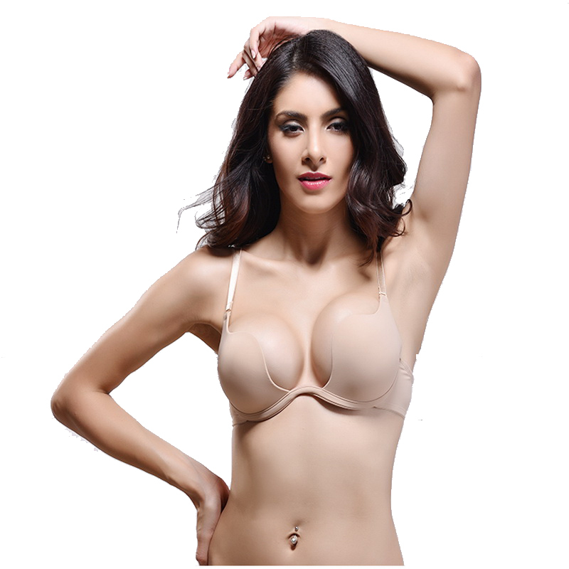 Aliexpress.com : Buy Women Bra Deep U Low Cut bra Push up Woman ...