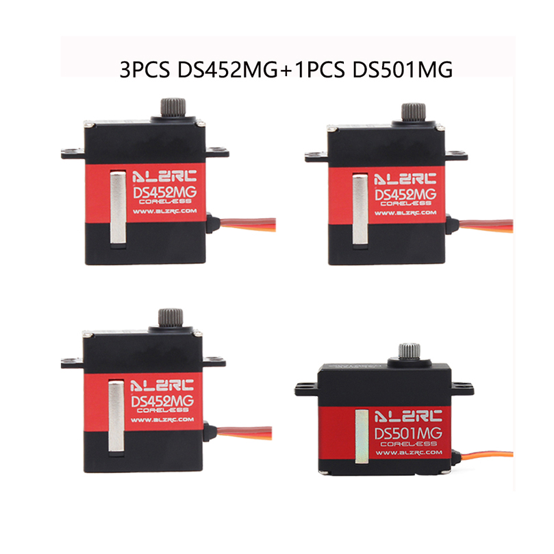 <font><b>ALZRC</b></font> 3PCS DS452MG Servos+1PCS DS501MG Servo For <font><b>380</b></font> 450 480 500 RC Helicopter image
