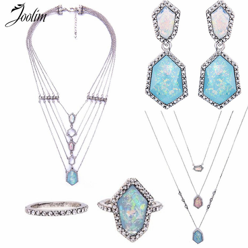 JOOLIM Jewelry Wholesale/ Blue Geometrics