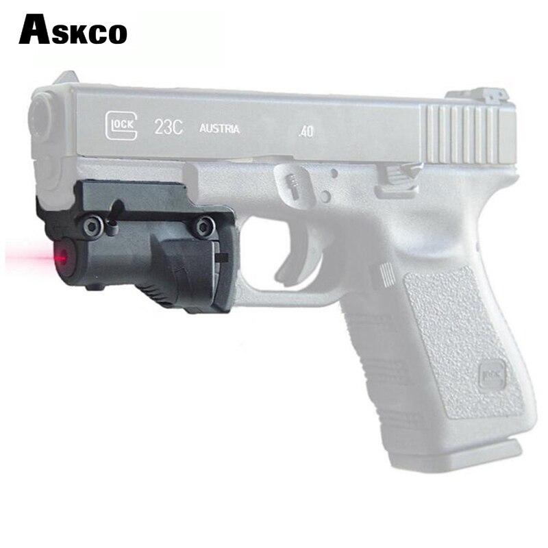 Askco táctico 5 mw visor Láser rojo punto rojo para Glock 19 23 22 17 21 37 31 20 34 35 37 38 pistola Rifle Airsoft caza 22 En 1 Dron accesorios prácticos de Hobby Fácil instalación Simulador de control remoto de juguete con Cable USB para RealFlight G7