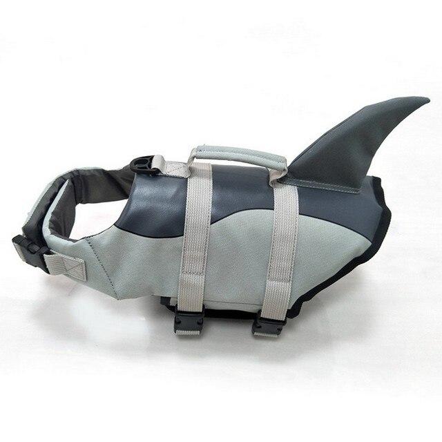 Gilet de Sauvetage pour Chien Gilet Vêtements Gilet de Sauvetage Collier D'animal Familier De Harnais De Chien Natation Maillot De Bain D'été Sirène Requin 6