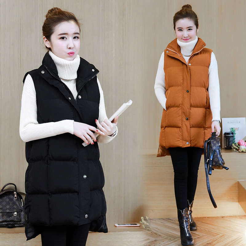 The new cotton vest to film the spot female long coat in autumn winter pregnant women vest waistcoat ma3 jia3 in the autumn of 2017 new female hand