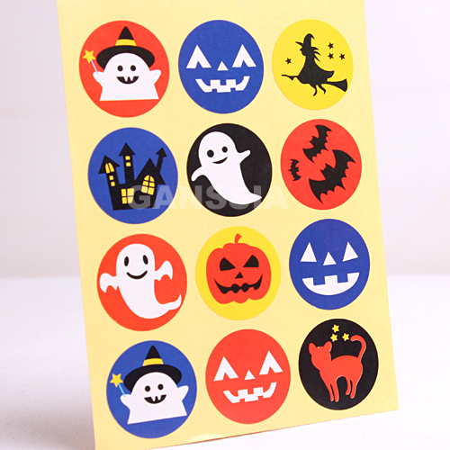 100pcs/lot Dia 3cm 2018 Newest Halloween Series Seal Stickers DIY Decoration Gift Sticker Stationery Party Supplies (ss-1486)