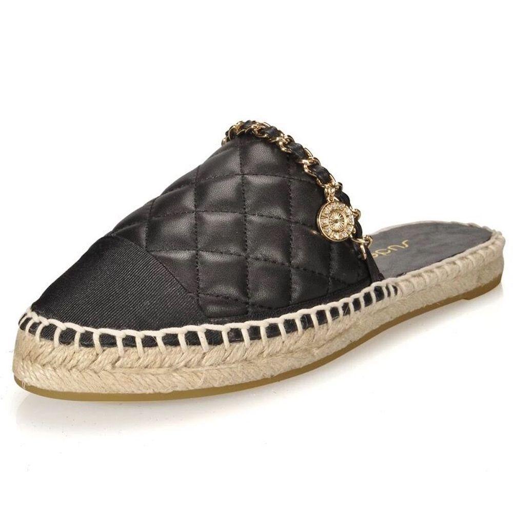 여성 슬리퍼 브랜드 슬립 온 뮬 혼합 컬러 플랫 라운드 발가락 손바느질 정품 가죽 슬리퍼 외부 마름모꼴 신발-에서슬리퍼부터 신발 의  그룹 1