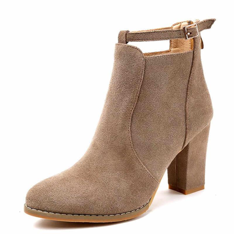 SLYXSH Kadın Ayakkabı Yeni Sonbahar Kış Moda Kadın Çizmeler Yüksek Topuklu kadın Deri yarım çizmeler Seksi Sivri Burun Boot