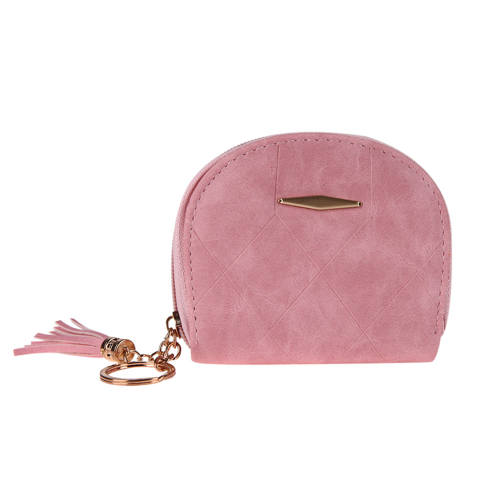Nubuck Leather Women Short Wallets Female Fashion Small Zipper Coin Purse Female Card Wallet Purses Tassel Pendant Money Bag simline fashion genuine leather real cowhide women lady short slim wallet wallets purse card holder zipper coin pocket ladies