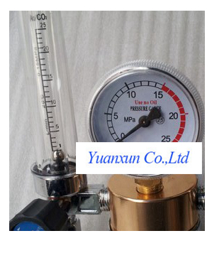Twin-tube gas pressure reducer argon gas flow meter gauge double YAR