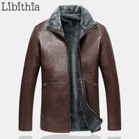PU Leather Jackets Men Plus Size M 4XL Single Breasted Turn down Collar Coats Smart Casual Clothes Winter Wine Red Coffee F041