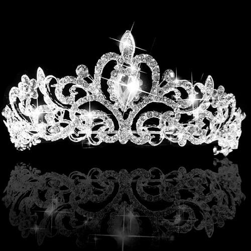 Hot Wedding Bridal Princess Prom Austrian Crystal Headband Tiara Crown Veil Hair Jewelry 5U7F 6SQ4 7EVH