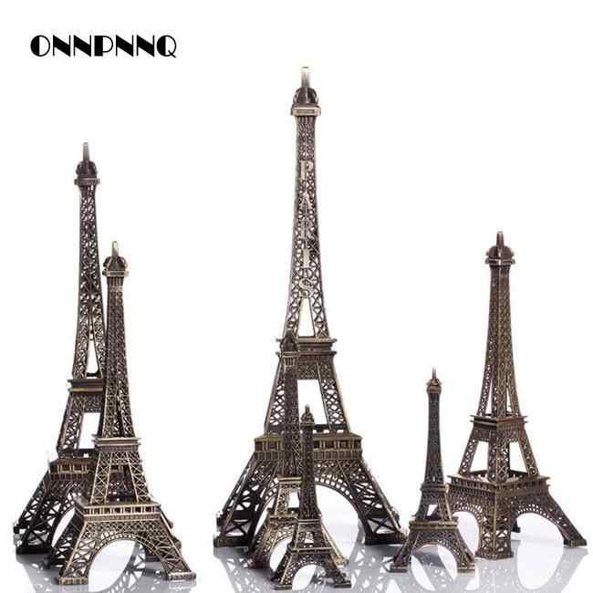 1 шт. миниатюрная Эйфелева башня Парижа домашние декоративные принадлежности Подарочная модель металлических украшения для дома аксессуары