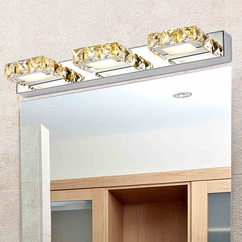 1/2/3/4 глав K9 clear/шампанское кристалл зеркало свет современный настенный светильник <font><b>LED</b></font> Ванная комната свет аппликация murale светильник <font><b>aplik</b></font> Ламба