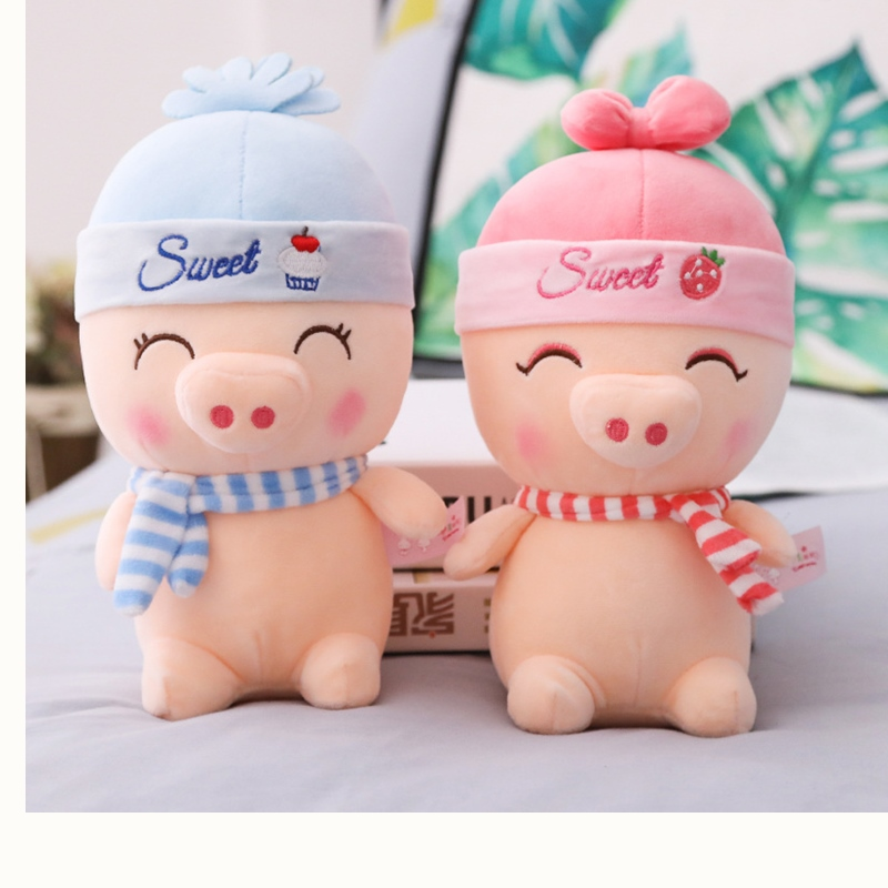 1pc 26cm Couple Piggy Plush Toys Soft Cartoon Animal Pig Stuffed Doll Baby Sleeping Toys Friends New Wedding Gifts Kids Presents baby toys