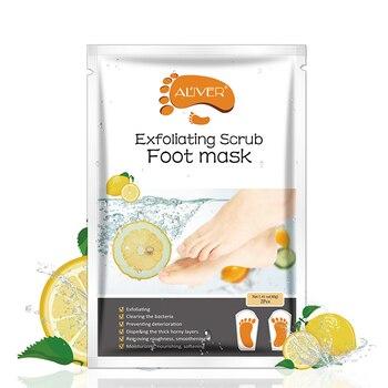 1 Pair Lemon Exfoliating Foot Mask Moisturizing Hydrating Whitening Feet Care Remove Dead Skin Foot Peel Foot Mask TSLM2