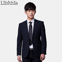 (Jacket+Pant+Tie) Men Formal Suits Luxury Wedding Suit Male Blazers Slim Fit Suits For Men Grey Black Party Classic Menswear