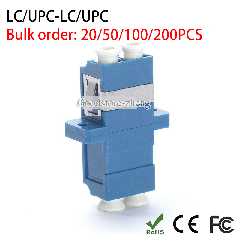 LC to LC Duplex Flange Fiber Optic Connector Adapter Coupler LC UPC Connector Coupler