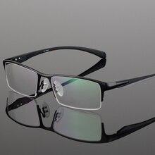 Brand Design okulary ze stopu tytanu męskie okulary dla osób z krótkowzrocznością oprawki do okularów dla mężczyzn