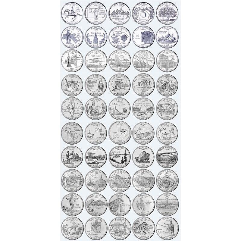 Amerika set 56 munten, 1999 2009, P SOEVEREINITEIT & TERRITORIES QUARTERS COMPLEET originele, verenigde Staten USA herdenkingsmunt-in Non-valuta Munten van Huis & Tuin op  Groep 1