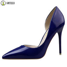 Luxury Women Pumps High Heels Shoes Woman Stiletto Pointed Toe Female Sexy Party shallow Office Lady Wedding Party Plus Size 40 недорого