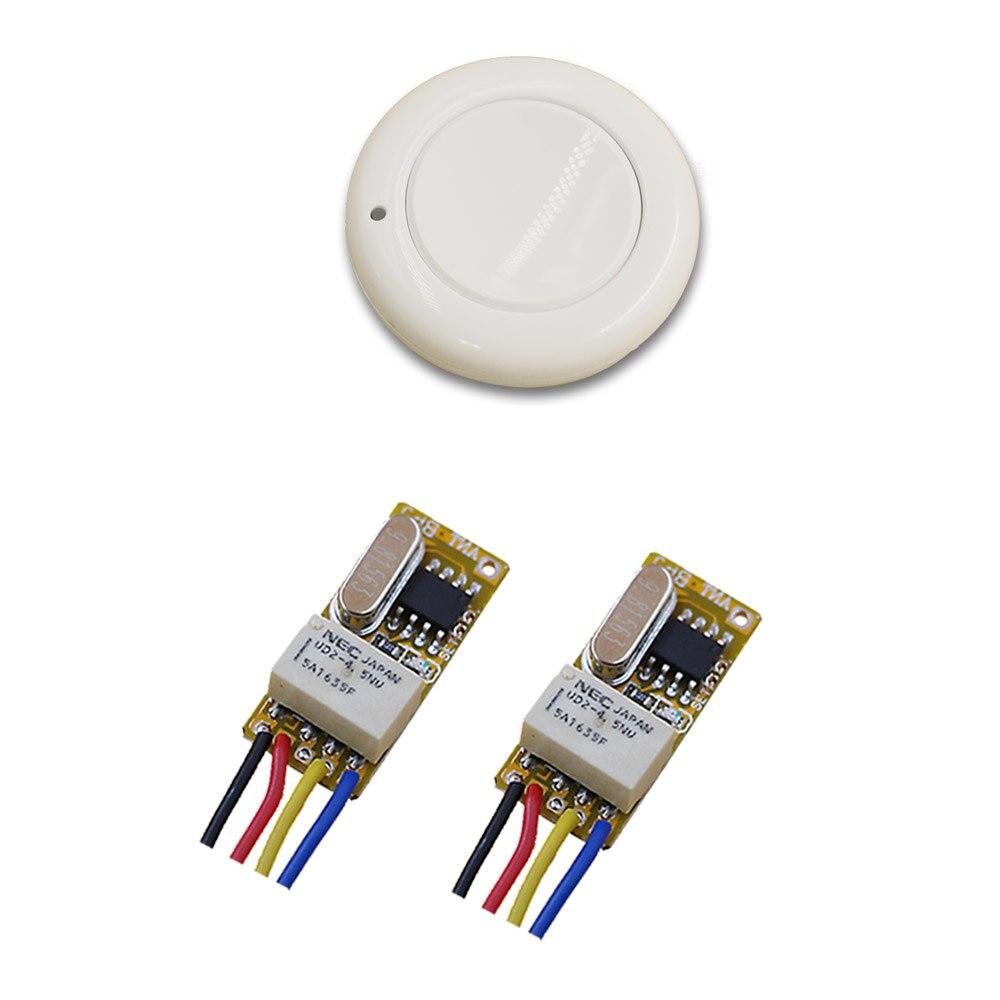 315/433MHZ DC3.5V 5V 7V 9V 12V Relay 1CH Wireless RF Mini Remote Control Switch White Transmitter with Receiver