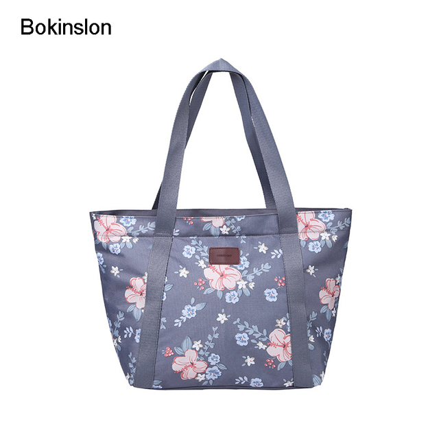 870302a670 Bokinslon Woman Oxford Handbags Small Fresh Literature And Art Shoulder Bags  For Girls Casual Printing Women