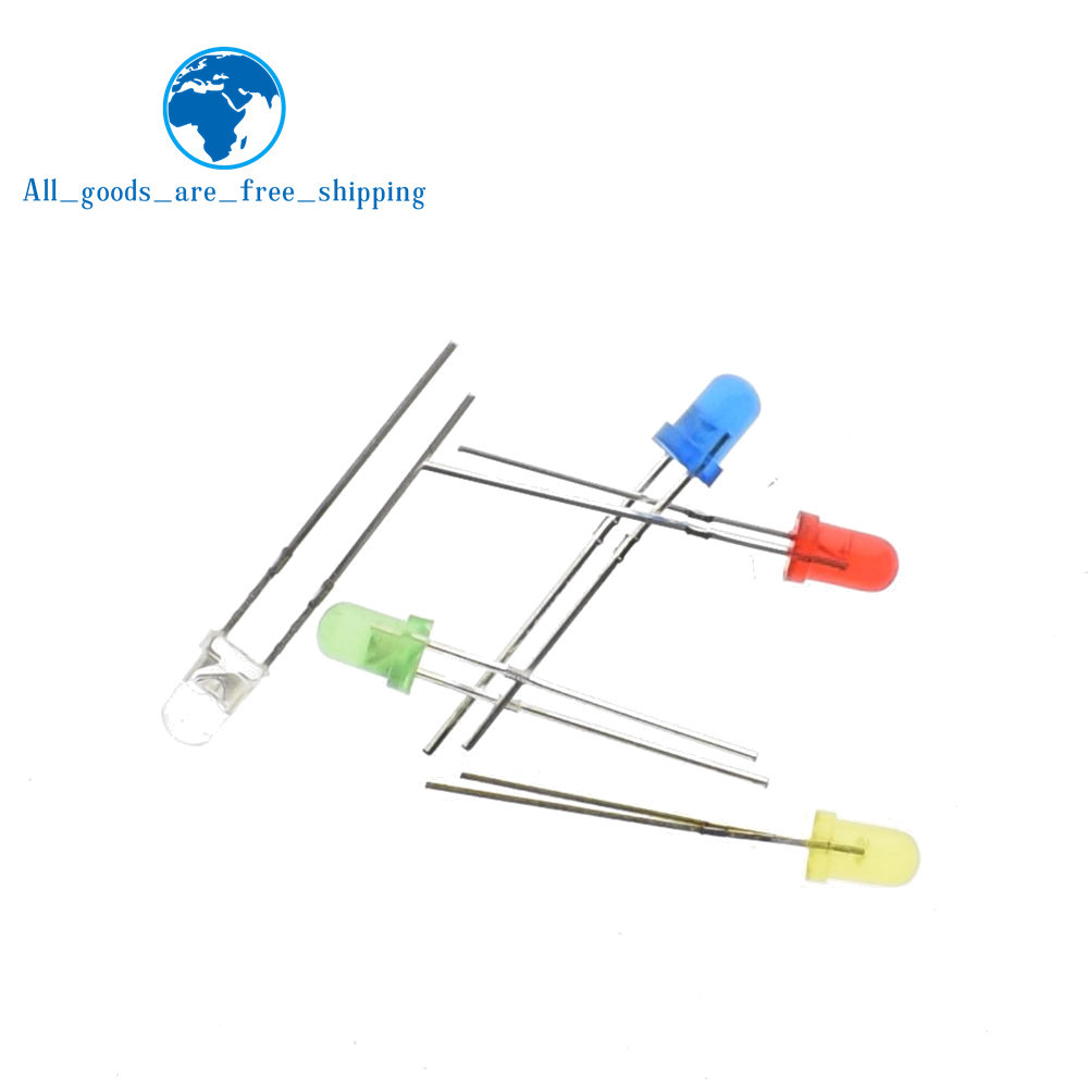 Diodes Shengyang 5 Colors X20pcs =100pcs F5 5mm Round Yellow White Red Green Blue Diffused Round Dip Diode Led Lamp Light