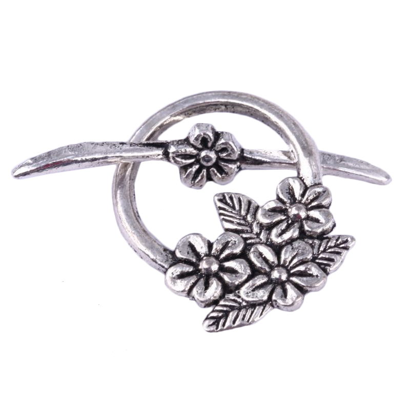 15Sets Tibetan Silver Flower Circle Toggle Clasps Antique Silver Golden Bronze Color For Jewelry Making Diy Necklace Accessoires