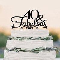 40 עוגת טופר FABULOUS/40th עוגת יום הולדת טופר/עוגת חתונת טופר