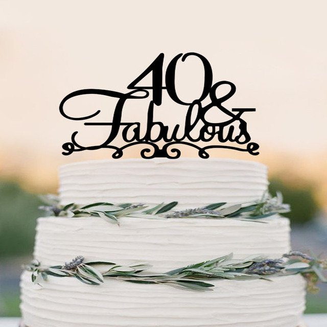 40 Cake Topper Fabulous 40th Birthday Cake Topper Wedding Cake