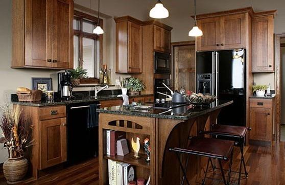 Nuevo modelo del gabinete de cocina de madera oscura madera de ...