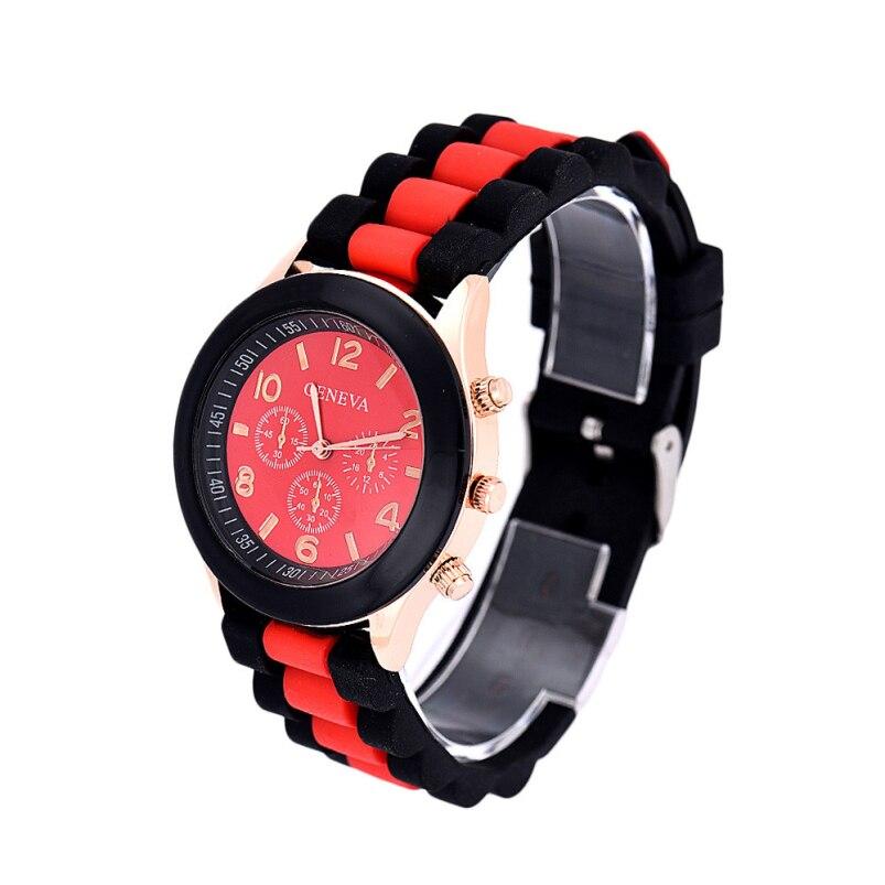 New Luxury Mode Unisex Geneva Silicone Wanita Quartz Analog Olahraga Wrist  Watch montre femme Kasual Perhiasan Top Kualitas Baik 5a6eeb3d94