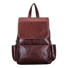 Новые Классические Старинные Моды Натуральная Кожа женские Путешествия Ноутбук Рюкзак Школьные Сумки Дамы Back Packs