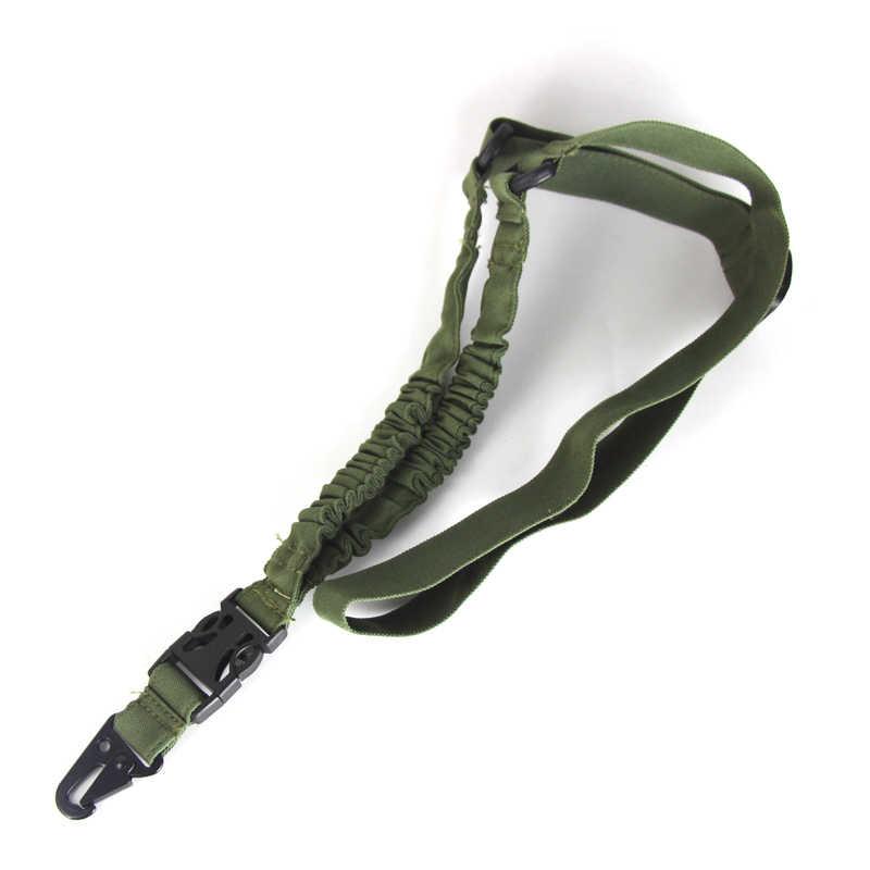 التكتيكية بندقية بندقية حبال Mayitr قابل للتعديل واحد نقطة حزام حزام أمان حبل مع خطاف معدني الصيد بقاء حبال الأشرطة