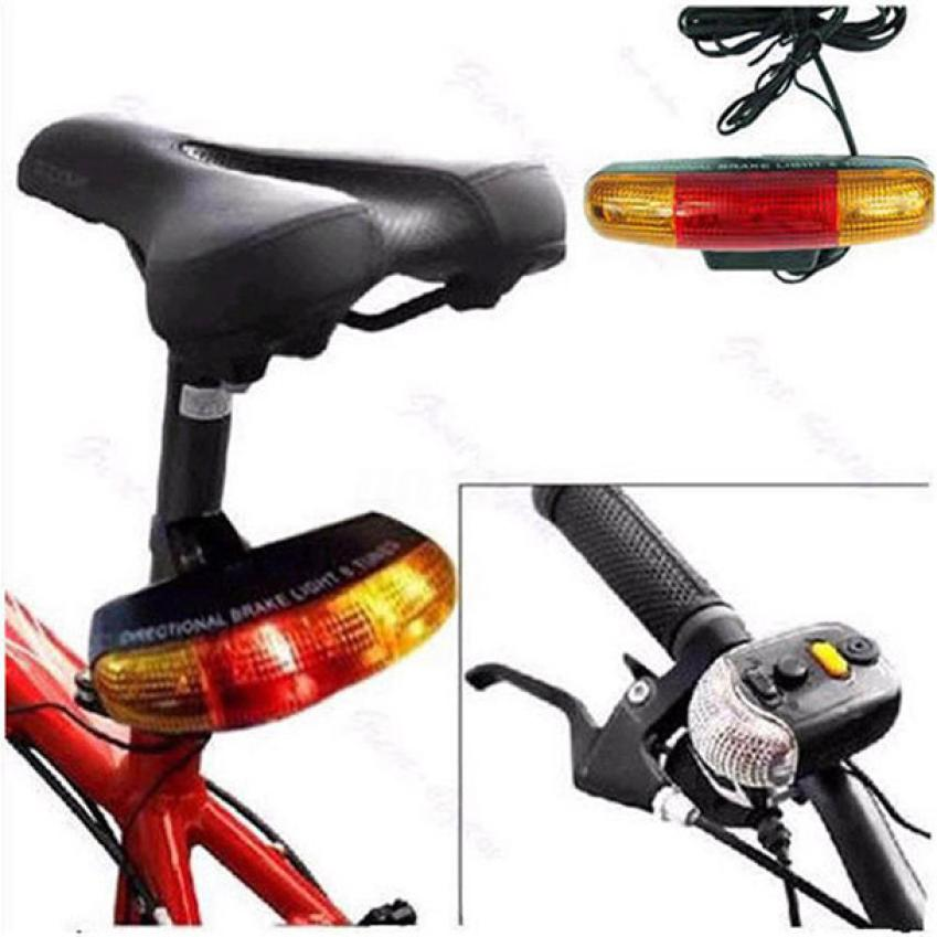7 LED Bicycle Bike Turn Signal Directional Brake Light Lamp 8 sound Horn Fixed mount Set Bicycle Light Safety in Darkness P40