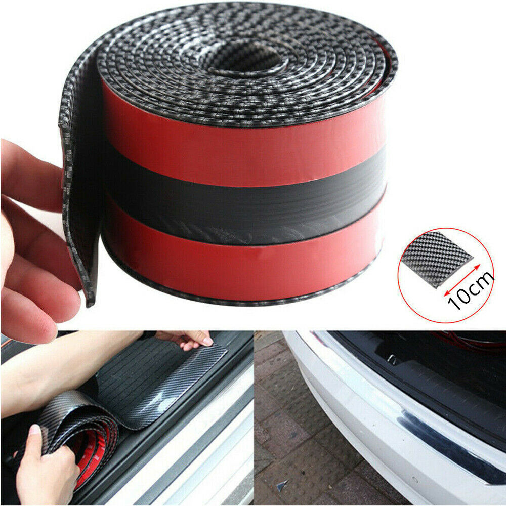 Image 2 - Car Sticker 1M*10CM Carbon Fiber Rubber DIY Door Sill Protector Edge Guard Strip for Ford BMW Chevrolet Honda GMC Car Sticker-in Car Stickers from Automobiles & Motorcycles