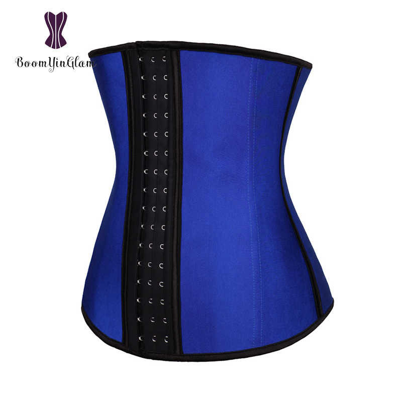 d03dce7060a ... Plus Size 3 Hooks 9 Steel Boned Slimming Belly Belt Waist Cincher Women  Shaper Corset Latex ...