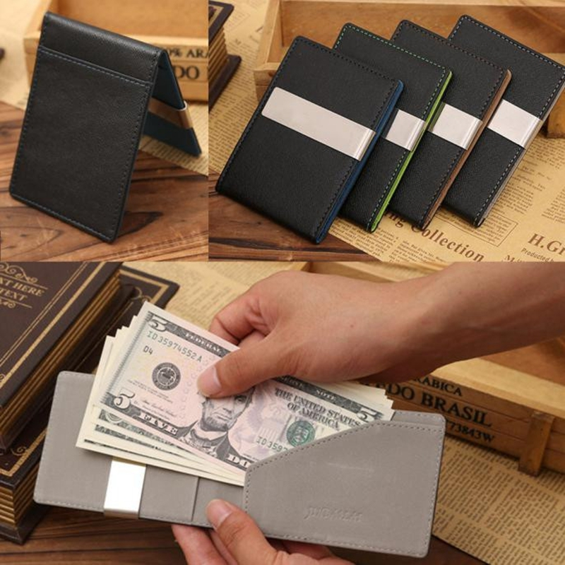 designer wallet with money clip q42a  2016 New arrival High quality PU leather magic wallets fashion designer men money  clip free shipping