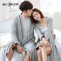 Spring And Autumn Lovers Robe Male Women S 100 Cotton Toweling Bathrobes Long Design 100 Cotton