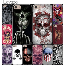 Floral Sugar Satanic Skull art Hard White Cover Case for iPhone 7 7 Plus 6 6S Plus 5 5S SE 4 4S