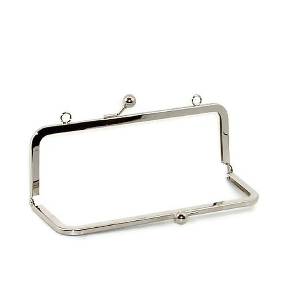 6 X 3 Inches (15x7.5cm) Nickel Purse Frame With Loops Silver Clutch 20Pcs/lot