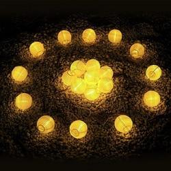 20led solar powered jardim luzes de fadas corrente guirlanda lanterna led luzes da corda bola natal ao ar livre jardim decoração casamento