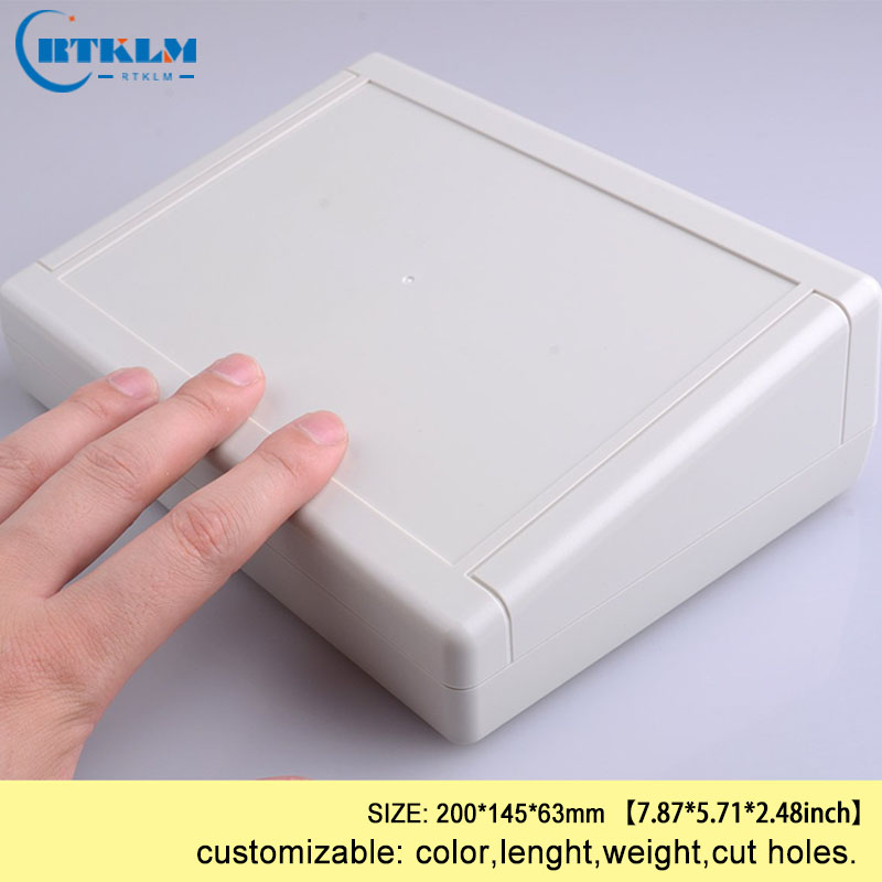 4PCS diy project electronic Plastic box abs plastic junction box pcb diy design wire connection box  200*145*63mm Desktop shell
