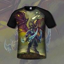 WOW Horde Alliance Illidan Thrall Lich King Arthas T Shirt Deathwing Neltharion Jaina Hellscream Gul'dan T Shirt High Quality