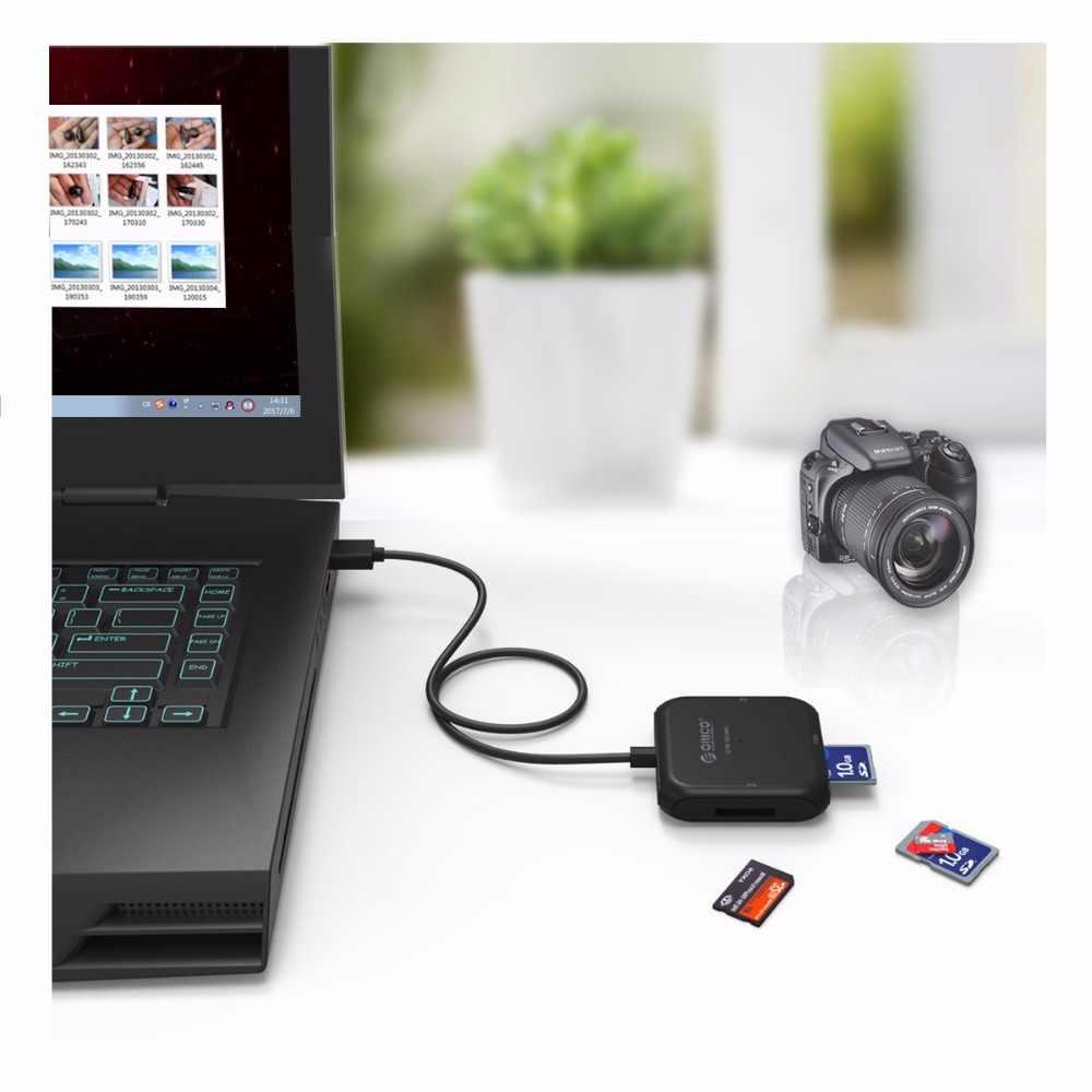 ORICO قارئ البطاقات SD سوبر سرعة USB 3.0 مايكرو SD TF قارئ بطاقات الذاكرة ماكس دعم 256 جيجابايت ل ماوس USB للكمبيوتر 3.0 قارئ بطاقات