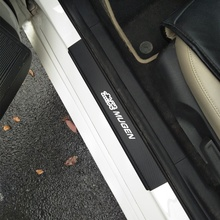 4Pcs/Set Carbon Fiber Vinyl Sticker Car Door Sill Protector Scuff Plate For Honda Mugen Power Civic Accord Fit CRV Hrv