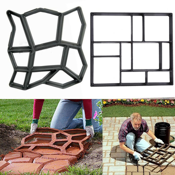 DIY Plastic Path Maker Paving Cement Brick Molds